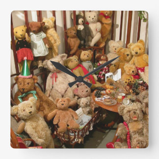 Teddy Bears Collectors Paradise Square Wall Clock
