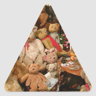 Teddy Bears Collectors Paradise Triangle Sticker