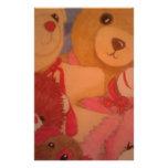 teddy bears custom stationery