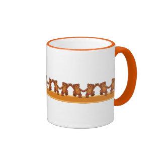 Teddy Bears Dancing To The Beat Coffee Mugs