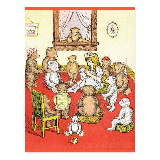 Teddy Bears Gather Round Postcard