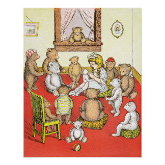 Teddy Bears Gather Round Poster