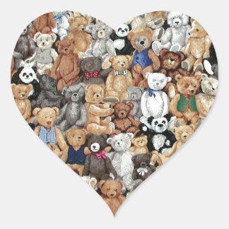 Teddy Bears Heart Sticker