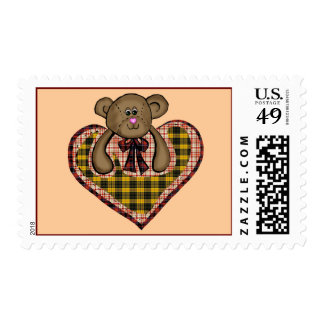 Teddy Bears Heart T-shirts and Gifts Postage Stamp