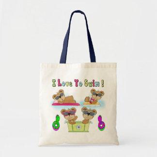 Teddy Bears I Love To Swim Bags