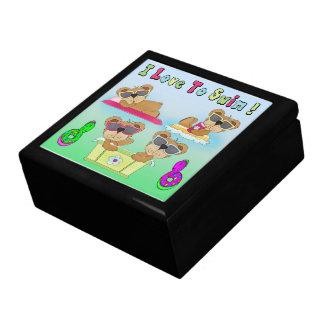 Teddy Bears I Love To Swim Gift Box/Trinket Box