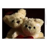 Teddy bears in love. greeting card