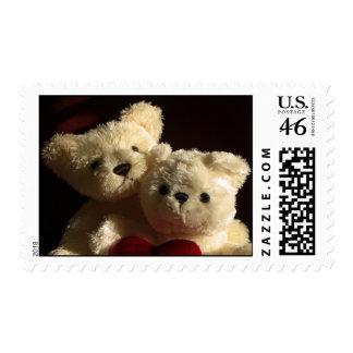 Teddy bears in love stamp