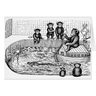 Teddy Bears in the Bathtub Card