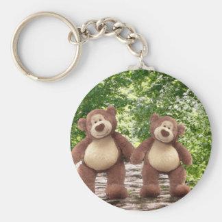 Teddy Bears in the Woods Keychain