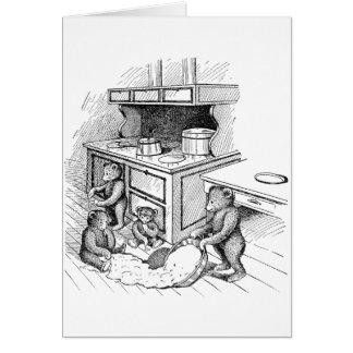 Teddy Bears Make a Mess in the Kitchen Greeting Cards