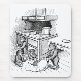 Teddy Bears Make a Mess in the Kitchen Mouse Pad