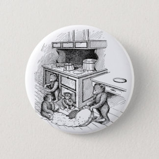 Teddy Bears Make a Mess in the Kitchen Pinback Button