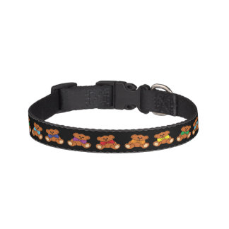 Teddy Bears on black Collar
