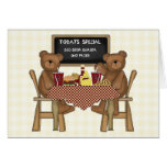 Teddy Bears Out to Lunch Greeting Card