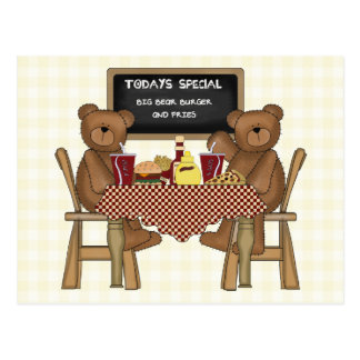 Teddy Bears Out to Lunch Postcard