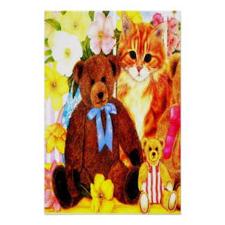 TEDDY BEARS PARTY POSTER