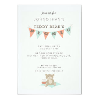 Teddy Bear's Picnic 5x7 Paper Invitation Card