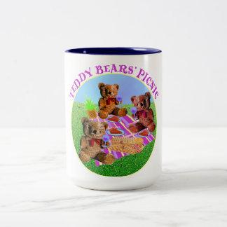 Teddy Bears Picnic Two-Tone Coffee Mug