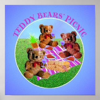 Teddy Bears Picnic Print on Canvas