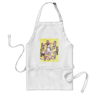 Teddy Bears Play Ring Around the Rosie Adult Apron
