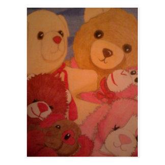 teddy bears postcard