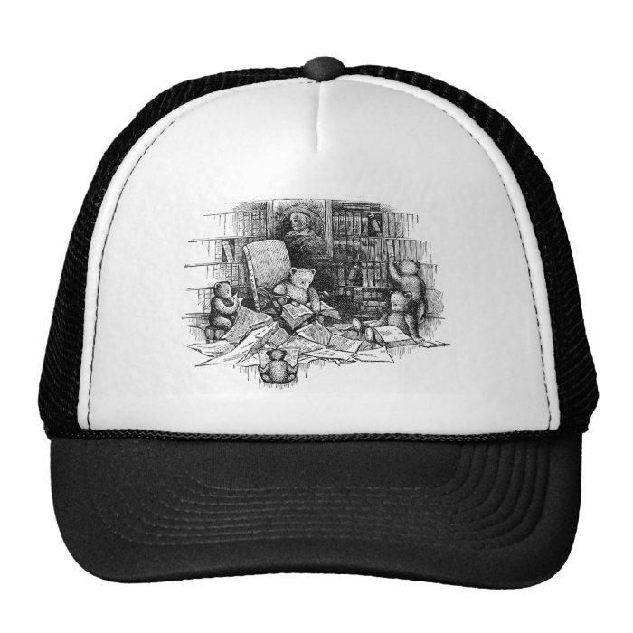 Teddy Bears Reading in the Library Trucker Hat