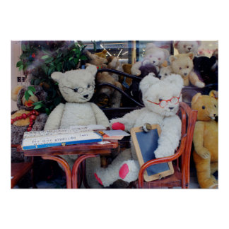 Teddy Bears Reading Lessons Poster
