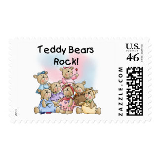Teddy Bears Rock Tshirts and Gifts Postage Stamp