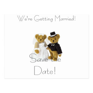 teddy bears, Save the Date!, We're Getting Marr... Post Card