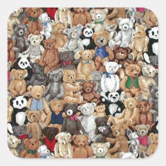 Teddy Bears Square Sticker