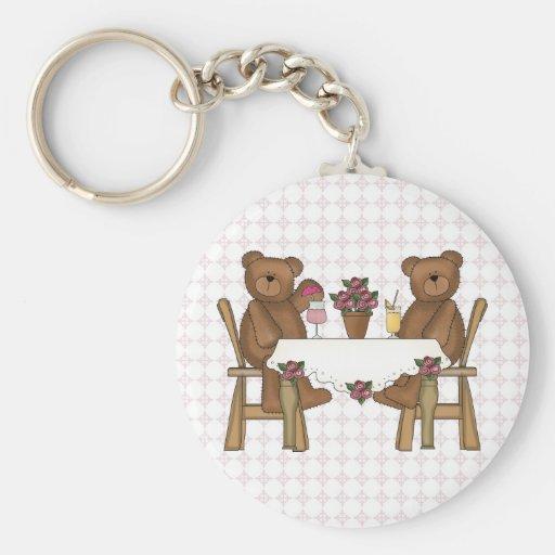 Teddy Bear's Time for Lemonade Basic Round Button Keychain