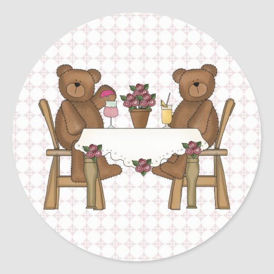 Teddy Bear's Time for Lemonade Classic Round Sticker
