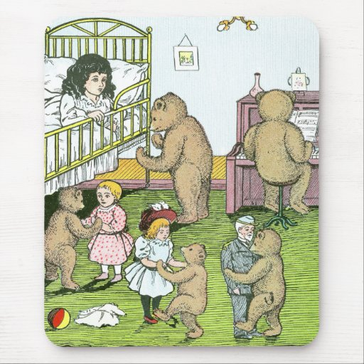 Teddy Bears Waltz with Dolls Mouse Pad
