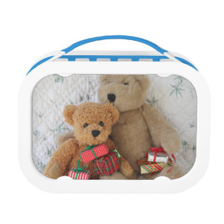 Teddy bears with Christmas gifts Lunchboxes