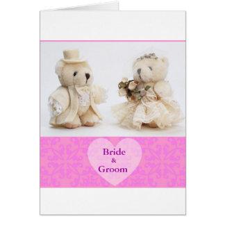 Teddy Bears with heart Card