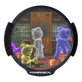 Teddy Bearz Christmas LED Window Decal