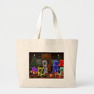 Teddy Bearz Christmas Jumbo Tote Bag