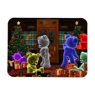Teddy Bearz Christmas Large Magnet