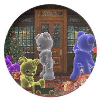 Teddy Bearz Christmas Plate