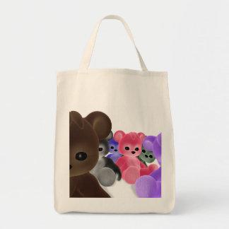 Teddy Bearz Group Grocery Tote Bag