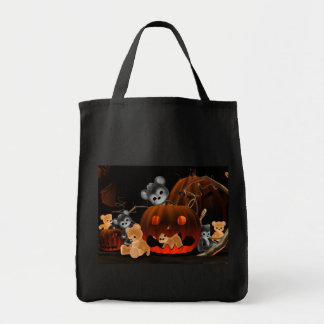 Teddy Bearz Halloween #2 Grocery Tote Bag