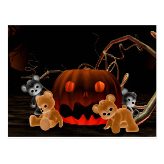 Teddy Bearz Halloween Postcard