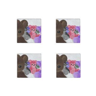 Teddy Bearz Stone Magnet