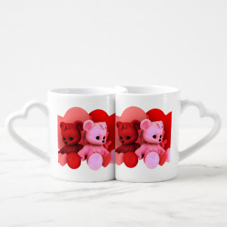 Teddy Bearz Valentine Coffee Mug Set