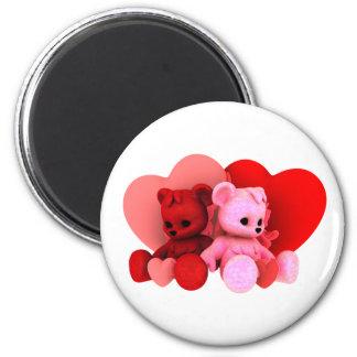 Teddy Bearz Valentine Magnet V2