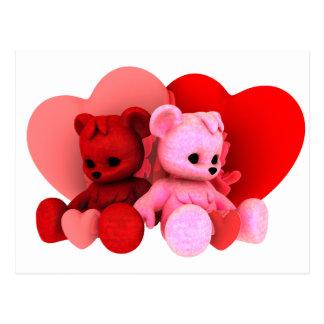 Teddy Bearz Valentine Postcard