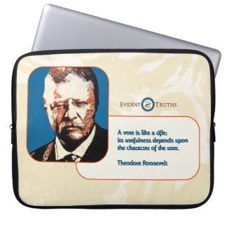 Teddy Blue - Theodore Roosevelt 2 Laptop Sleeve