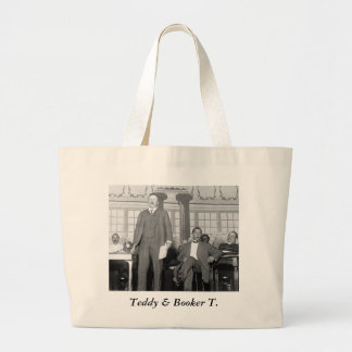 Teddy & Booker T., early 1900s Large Tote Bag