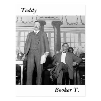 Teddy & Booker T., early 1900s Postcard